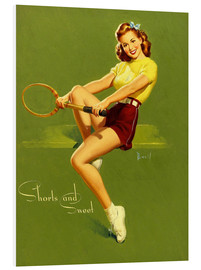 Foam board print  Pin Up - Shorts and Sweet - Al Buell