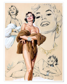 Premium poster Glamour Pin Up study