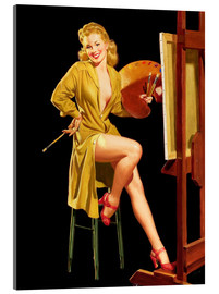 Acrylic glass  Pin up with a color palette - Al Buell