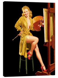 Canvas print  Pin up with a color palette - Al Buell