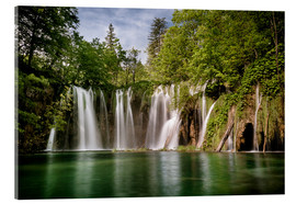 Acrylic print  Paradise Waterfall in Plitvice - Andreas Wonisch