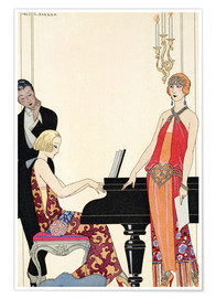 Premium poster  Incantation, illustration for Gazette du Bon Ton, 1922 - Georges Barbier