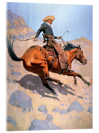 Acrylic glass  The Cowboy - Frederic Remington