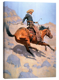 Canvas print  The Cowboy - Frederic Remington