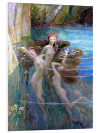 Foam board print  Water Nymphs 1927 - Gaston Bussiere