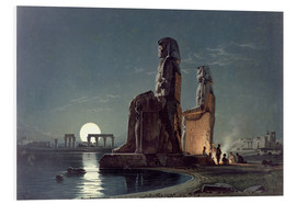 Foam board print  The Colossi of Memnon, Thebes - Carl Friedrich Heinrich Werner