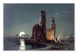 Premium poster  The Colossi of Memnon, Thebes - Carl Friedrich Heinrich Werner