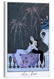 Canvas print  The Fire - Georges Barbier