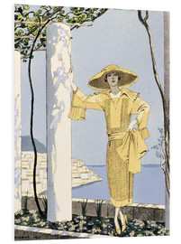 Forex  Amalfi, illustration of a freu in yellow dress, 1922 - Georges Barbier