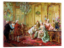 Acrylic print  The presentation of the young Mozart in Versailles - Vicente de Paredes
