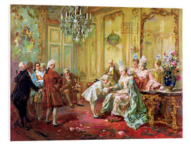 Foam board print  The presentation of the young Mozart in Versailles - Vicente de Paredes