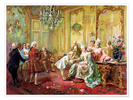 Premium poster  The presentation of the young Mozart in Versailles - Vicente de Paredes