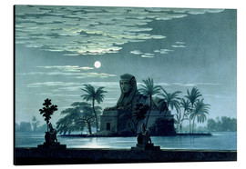 Aluminium print  Garden scene with the Sphinx in the moonlight - Karl Friedrich Schinkel