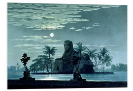 Foam board print  Garden scene with the Sphinx in the moonlight - Karl Friedrich Schinkel