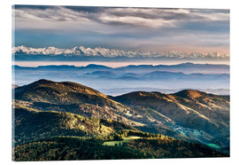 Acrylic glass  Black Forest Alps Panorama - Andreas Wonisch