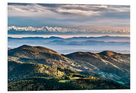 Foam board print  Black Forest Alps Panorama - Andreas Wonisch
