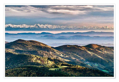Poster Black Forest Alps Panorama