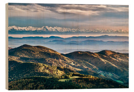Wood print  Black Forest Alps Panorama - Andreas Wonisch