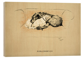 Wood print  Amalgamation - Cecil Charles Windsor Aldin