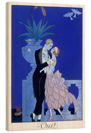 Wood print  Yes! 1921 - Georges Barbier