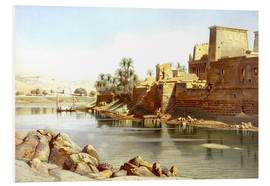 Foam board print  Temple of Isis at Philae - Carl Friedrich Heinrich Werner
