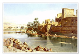 Premium poster  Temple of Isis at Philae - Carl Friedrich Heinrich Werner