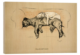 Wood print  Elevation - Cecil Charles Windsor Aldin
