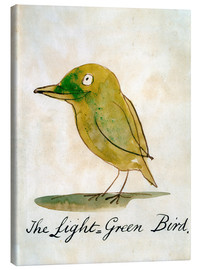 Canvas print  The bright green bird - Edward Lear