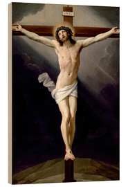Wood print  Christ on the Cross - Guido Reni