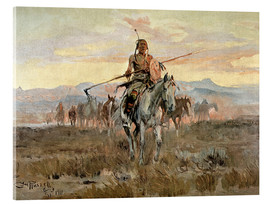 Acrylic glass  Stolen Horses, 1911 - Charles Marion Russell