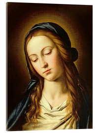 Acrylic print  Head of the Madonna - Il Sassoferrato