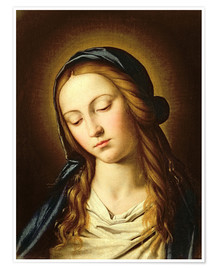 Premium poster  Head of the Madonna - Il Sassoferrato