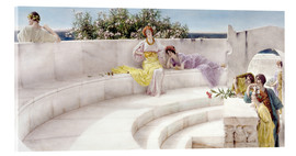 Acrylic print  Under the Roof of Blue Ionian Weather - Lawrence Alma-Tadema