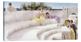 Canvas  Under the Roof of Blue Ionian Weather - Lawrence Alma-Tadema
