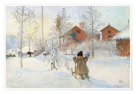 Premium poster  The Yard and Wash-House - Carl Larsson