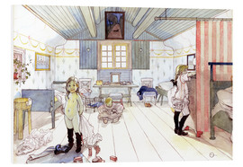 Foam board print  Mamma's and the Small Girl's Room - Carl Larsson