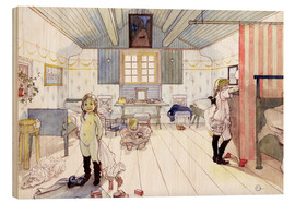 Wood print  Mamma's and the Small Girl's Room - Carl Larsson