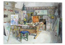 Foam board print  The Studio - Carl Larsson