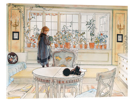 Acrylic glass  Flowers on the Windowsill - Carl Larsson