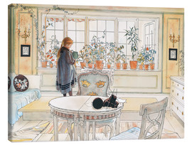 Canvas  Flowers on the windowsill - Carl Larsson