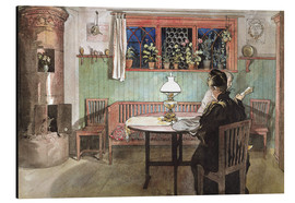 Aluminium print  When the Children have Gone to Bed - Carl Larsson