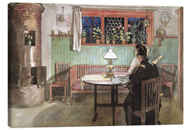Canvas print  When the Children have Gone to Bed - Carl Larsson