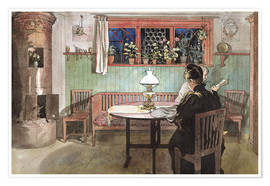 Premium poster  When the Children have Gone to Bed - Carl Larsson