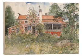 Wood print  The Cottage - Carl Larsson