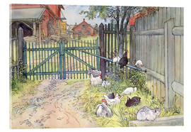 Acrylic glass  The Gate - Carl Larsson