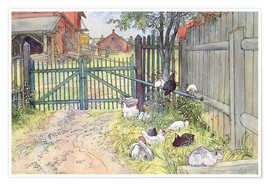 Poster  The Gate - Carl Larsson