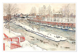 Premium poster  The Timber Chute, Winter Scene - Carl Larsson