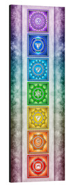 Alu-Dibond  The Seven Chakras - Series II -Artwork II - Dirk Czarnota