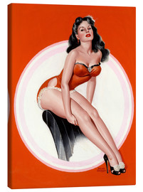 Canvas print  Brunette in Red Bathing Suit - Peter Driben