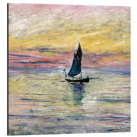 Aluminium print  Sailboat evening - Claude Monet